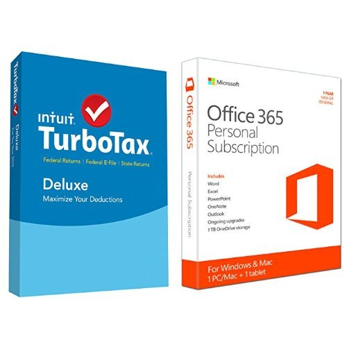 TurboTax Deluxe 2015 Federal + State Taxes + Fed Efile Tax Preparation Software - PC/