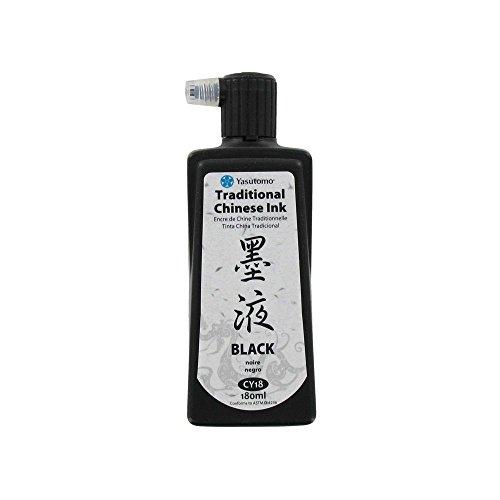 Yasutomo Chinese Ink, 180ml, Black (CY18) (180 Ml Ink)
