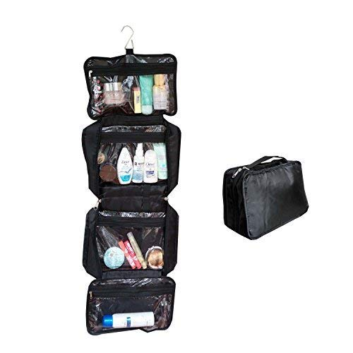 All-Purpose Household Travel Organizer Accessory Toiletry Cosmetics Makeup Hanging Shaving kit Bag-Black by SHONPY
