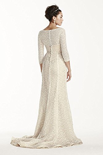 Sample White Style Solid Dress 4 AI14020112 As 3 Lace Sleeved Wedding Beaded is qSrqF