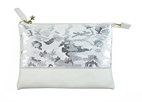 Borsa donna Collezione Argento Antico by Laino Industry fashion accessories - Pochette in pelle camouflage