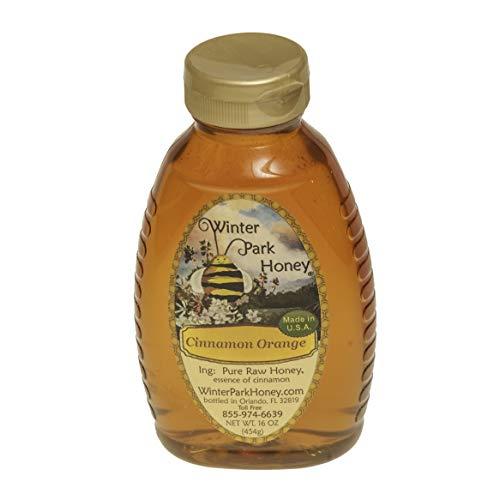 Cinnamon Orange Honey (Pure Natural Raw Honey) 16oz ()