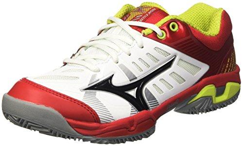 Mizuno Wave Exceed Sl Cc, Zapatillas de Tenis para Hombre Bianco (White/Black/Chinese Red)