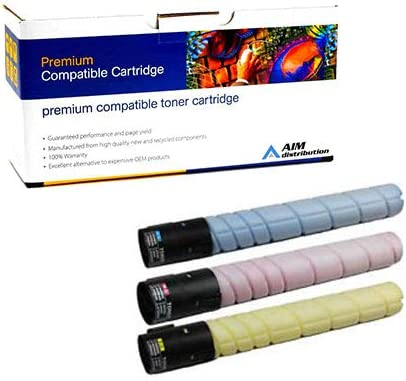 227//287//367 Toner Cartridge Combo Pack - Generic C//M//Y A8K3CMY AIM Compatible Replacement for Develop ineo