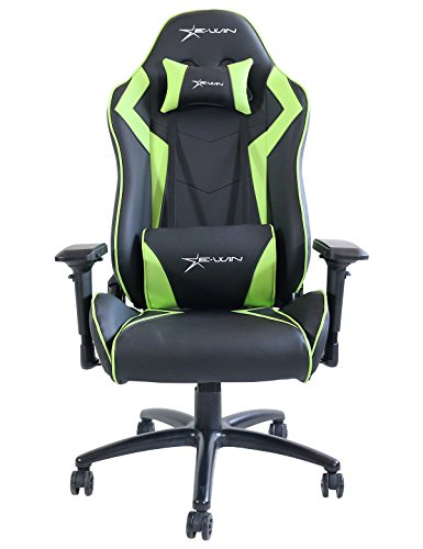 41hQ3FovApL - Ewin-Chair-Champion-Series-CPA-Ergonomic-Office-Computer-Gaming-Chair-with-Pillows-BlackGreen