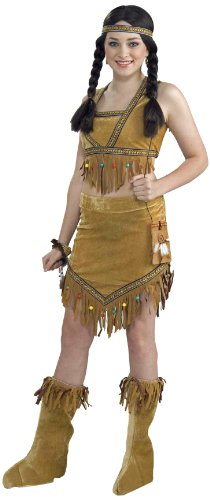 Forum Novelties Teenz Native American Princess Costume, Brown, Teen Standard (Princess Costumes For Teens)