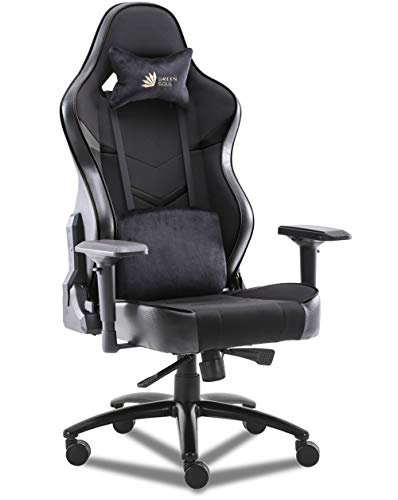 Green Soul® Monster Ultimate (S) Multi-Functional Ergonomic Gaming Chair (GS-734US) (Full Black) (Large Size)