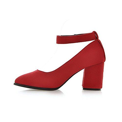 Gancio Smerigliato Solido Pompa Punta Donne Rosso calzature Ad Allhqfashion Alti Chiuso Indicata Anello E rrxU7qSwd