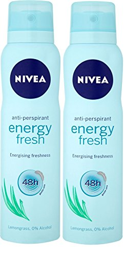 - Nivea Anti-Perspirant Energy Fresh 48h Deodorant Spray 150 mL () W. by Nivea