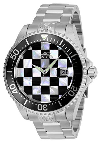 Invicta Men's Pro Diver Automatic-self-Wind Diving Watch with Stainless-Steel Strap, Silver, 22 (Model: -