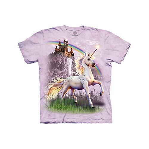 Unicorn Moon T-shirt - The Mountain Unicorn Castle Child T-Shirt, Purple, Medium