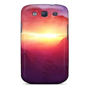 Galaxy Cover Case - Beautiful Mountain Dawn Protective Case Compatibel With Galaxy S3