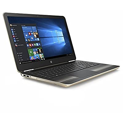 "HP Pavilion 15.6"" HD SVA Brightview WLED-backlit Laptop PC, Intel i5-6200U 2.3GHz 8GB DDR4 RAM 1TB HDD DVD+/-RW WIFI Bluetooth HDMI, B&O PLAY, USB 3.0, Windows 10, Gold"