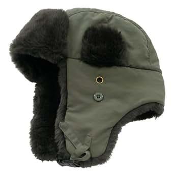 Decky Faux Fur Trooper Police Aviator Style Winter Hat