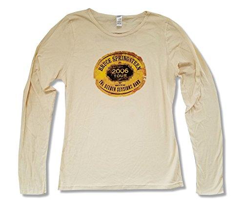 Bruce Springsteen Seeger Sessions World Tour Juniors Tan Long Sleeve Shirt (S)