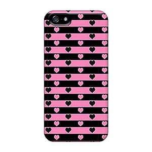 Excellent Design Hearts Phone Case For Iphone 5/5s Premium Tpu Case