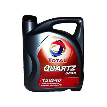Aceite lubricante para el coche Total Quartz 5000 15W40 Diesel 5 litros: Amazon.es: Coche y moto