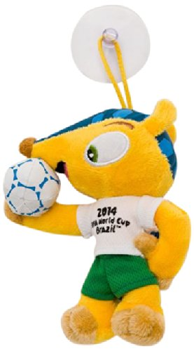 Price comparison product image FIFA World Cup Fuleco Plush - 5in/13 cm w/ suction Cup