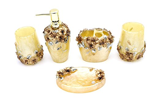 jynxos-5-pieces-bathroom-accessory-set-with-butterfly-with-flowers-ensemble-resin-sanitary-ware-home