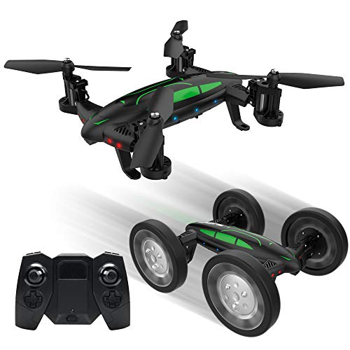 Mini Drone Camera VLOXO Remote Control Drone Headless RC Flying Quadcopter Car, Easy Speed Control Mode with USB Charger