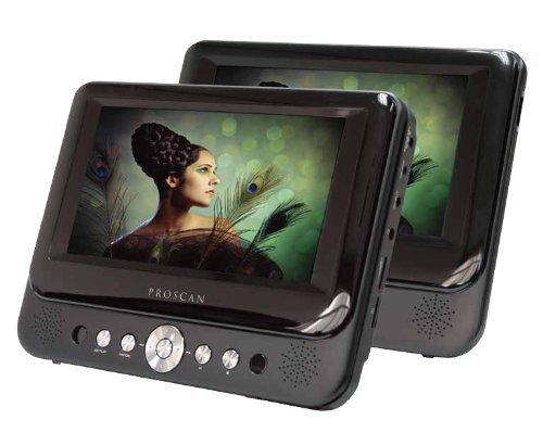 Proscan 7'' Dual Screen Prtbl DVD Player (Certified Refurbished)