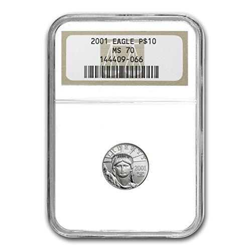 2001 1/10 oz Platinum American Eagle MS-70 NGC Piece MS-70 NGC