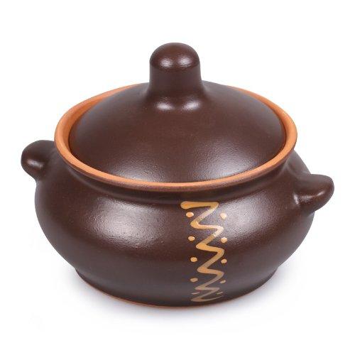(Gourmand Cast Iron Style Stewing Stoneware Pot)