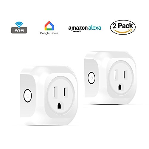 ACASHNA HS108 Smart Plug, No Hub Required, Wi-Fi, Control your Devices from Anywhere, Works Amazon Alexa Echo and Google Assistant (2Pack) by ACASHNA