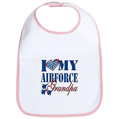 CafePress - I Love My Airforce Grandpa Bib - Cute Cloth Baby Bib, Toddler Bib ()