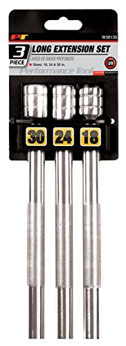 - Performance Tool W38139 3/8-Inch Drive Long Extension Set, 3-Piece