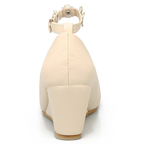 Fashion HeelHeels - Sandalias con cuña mujer Beige