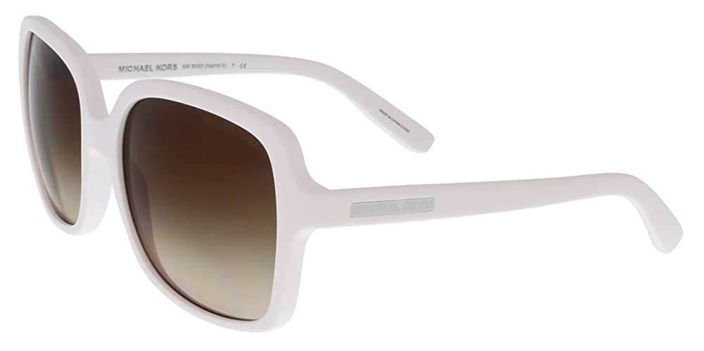 9ef9019563b Amazon.com  Michael Kors MK6033 ASTRID II 306413 White Square Sunglasses   Clothing