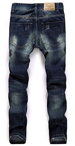 In Classici Alla Autocoltivazione Dritti Cotone Uomo Nostalgia Originali Jeans Da Blau Ragazzi Classiche Moda Con Tendenza XqEW7W