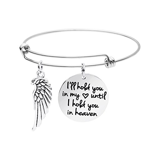 Memorial Jewelry Gift Dad Mom Loss of Loved Expandable Bracelet