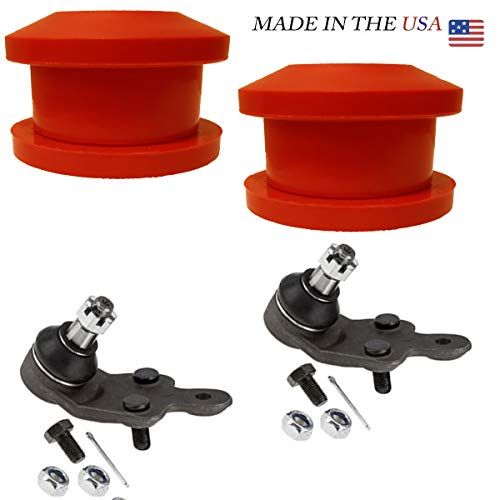 4PC Front Lower control arm repair kit (ball joints+bushings) ()