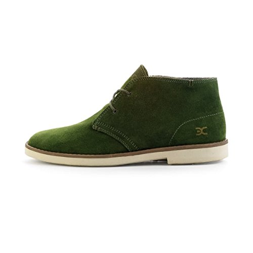 Dude Shoes Mens Torino Green Suede Desert Boot Green