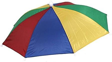 Ladies Mens Adult Multi Colour Festival Essential Umbrella Rain Hat Fancy Dress