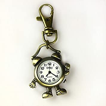 Cici Women s Shape Of The Alarm Clock Keychain Watch f0f6c09fc4