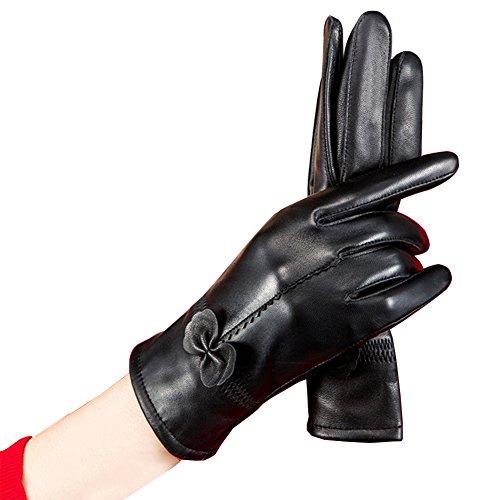 SZTARAレディースレザー手袋レディース暖かい秋冬カシミアミトン乗馬手袋