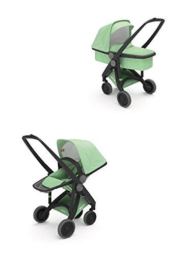 Cochecito UPP 2 en 1 chasis negro Kit color menta greentom: Amazon.es: Bebé