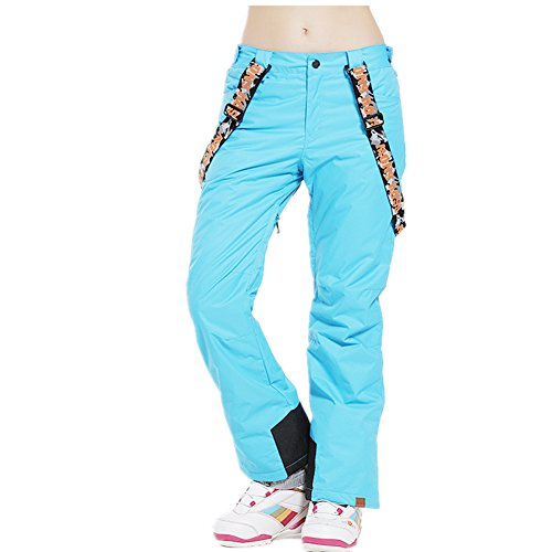 HOTIAN Women's Waterproof Snowboard Ski Jacket Windproof Snow Pants (M, style-7)