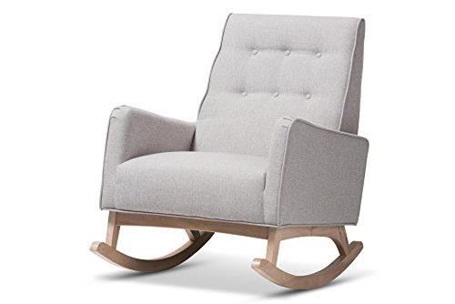 - Baxton Studio 424-7842-AMZ Martine Rocking Chair, Greyish Beige