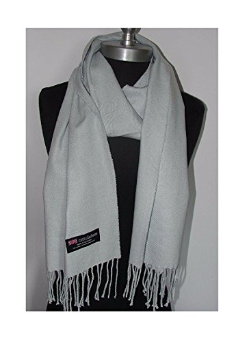 Easy-W_Scarves Warm THICK WINTER Scarf SOLID-Silver Grey_Scotland Wool (US Seller) (Bases De Rap Halloween)