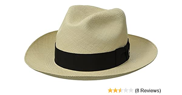 54f336160f96db Stetson Men's Centerdent Fine Panama Hat at Amazon Men's Clothing store: