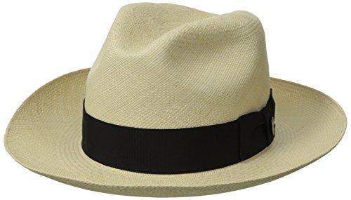 Stetson Men's Centerdent Fine Panama Hat, Natural, 7 by Stetson (Image #1)