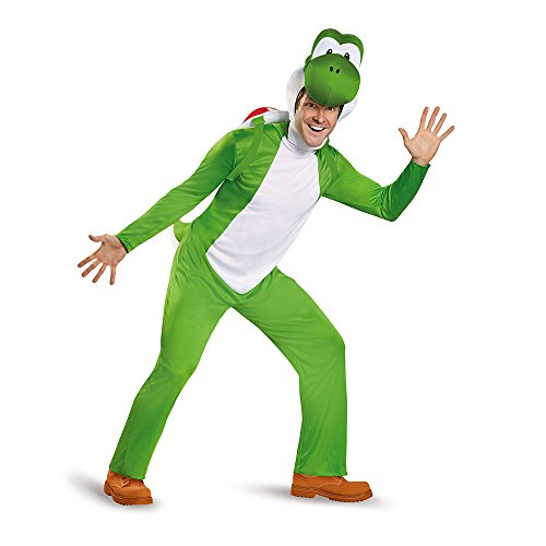 Disguise Men's Yoshi Deluxe Adult Costume, Green,