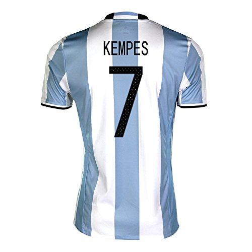 水もちろんくすぐったいKempes #7 Argentina Home Soccer Jersey Copa America Centenario 2016/サッカーユニフォーム アルゼンチン ホーム用 ケンペス 背番号7