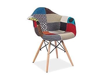 Diseño clásico Patchwork Sillón Retro Años 50 Silla de Bar ...