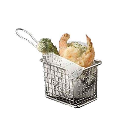 American Metalcraft FRYT433 Tabletop Serving Fry Basket, 4-1/8''W x 3-3/8''D x 2-7/8''H (Case of 48) by American Metalcraft (Image #1)