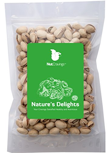 Nut Cravings California Pistachios – 100% All Natural Roasted & Salted Pistachios In Shell – 2LB